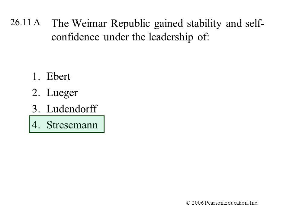 Ebert Lueger Ludendorff Stresemann