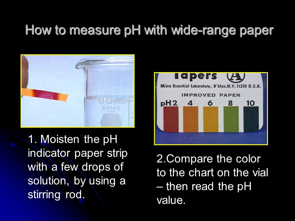 How to measure pH with wide-range paper