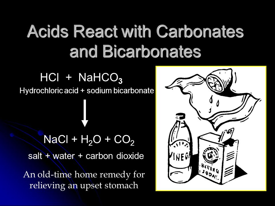 Acids React with Carbonates and Bicarbonates