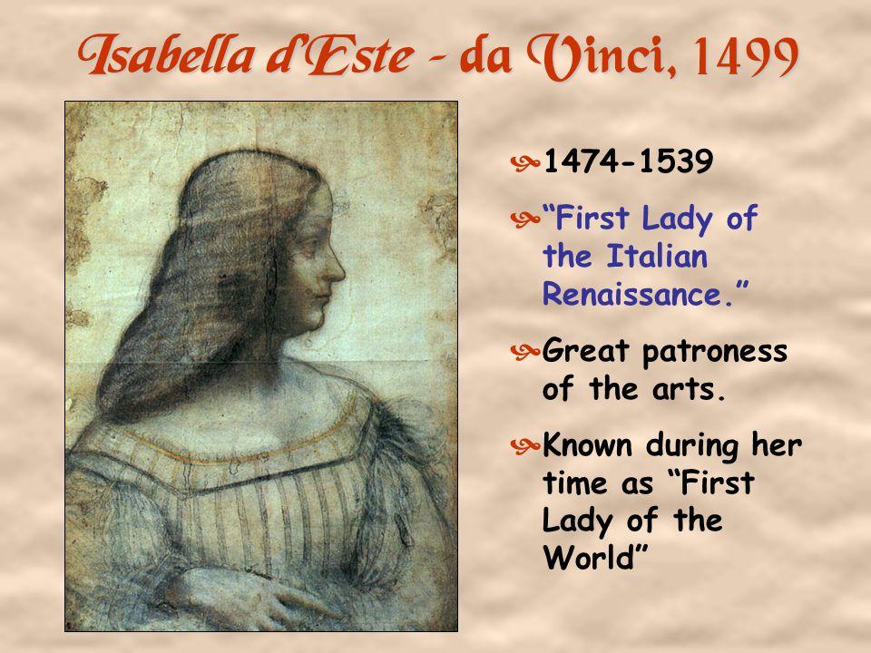 Isabella d'Este – da Vinci, 1499