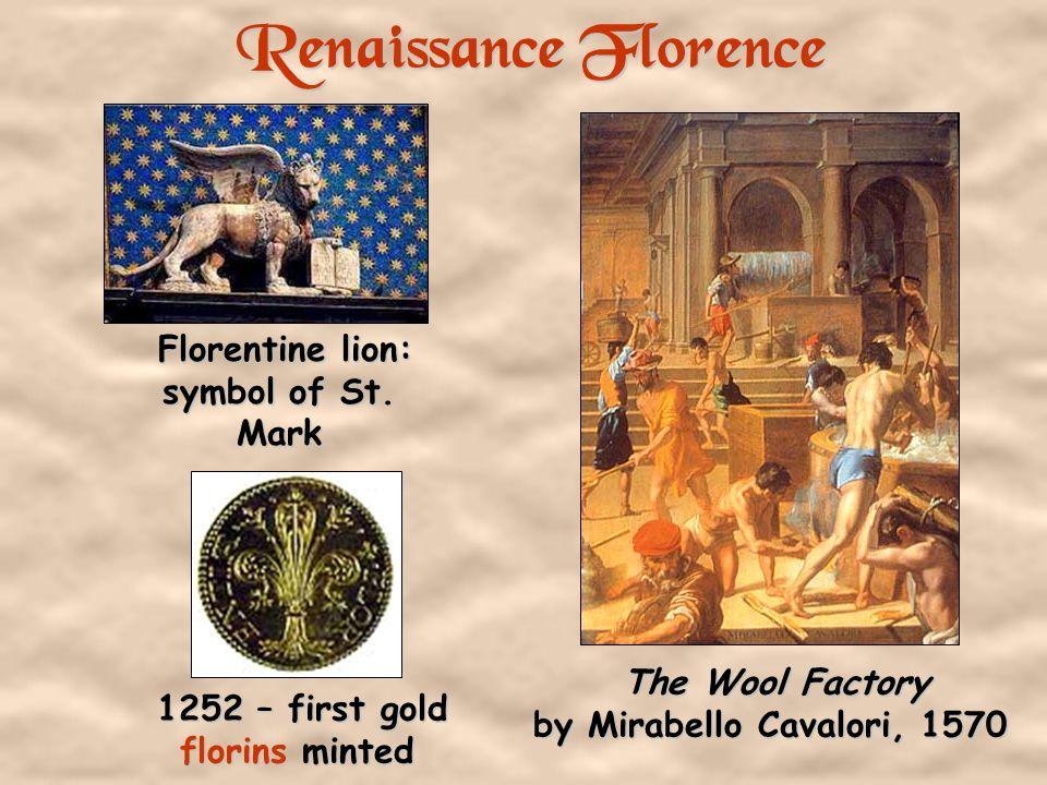 Renaissance Florence Florentine lion: symbol of St. Mark