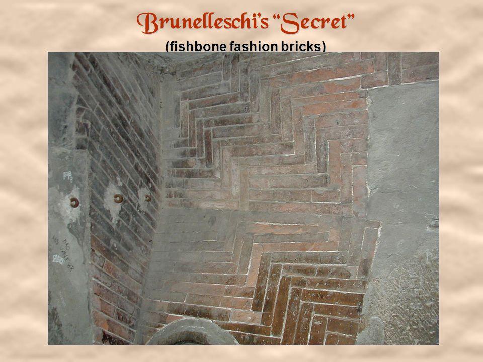 Brunelleschi's Secret (fishbone fashion bricks)