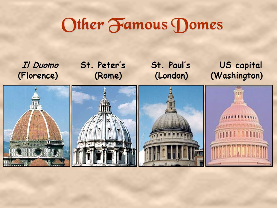 Other Famous Domes Il Duomo St. Peter's St.
