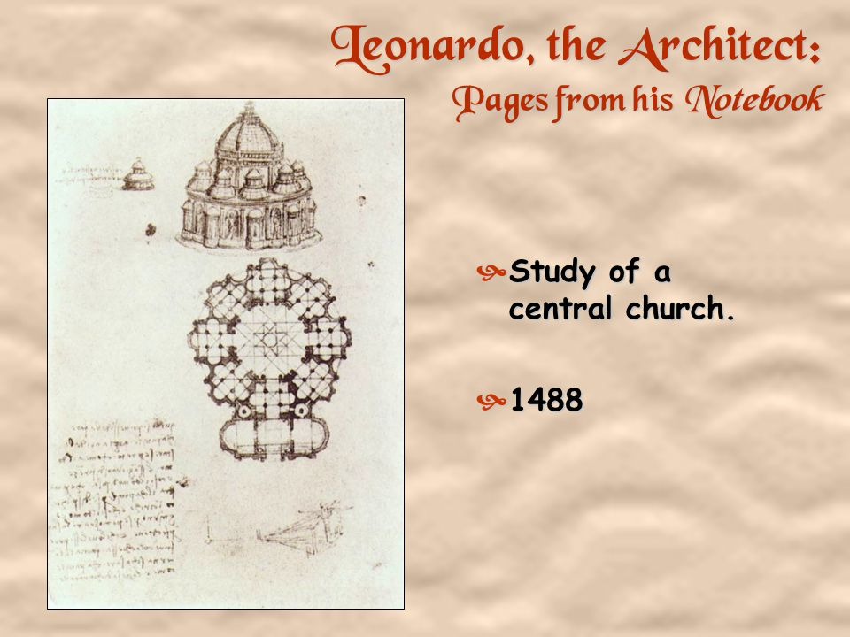 Leonardo, the Architect: Pages from his Notebook