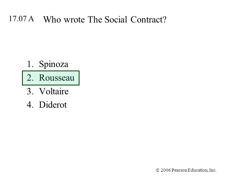 Who wrote The Social Contract