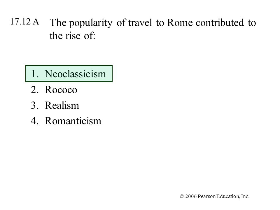The popularity of travel to Rome contributed to the rise of: