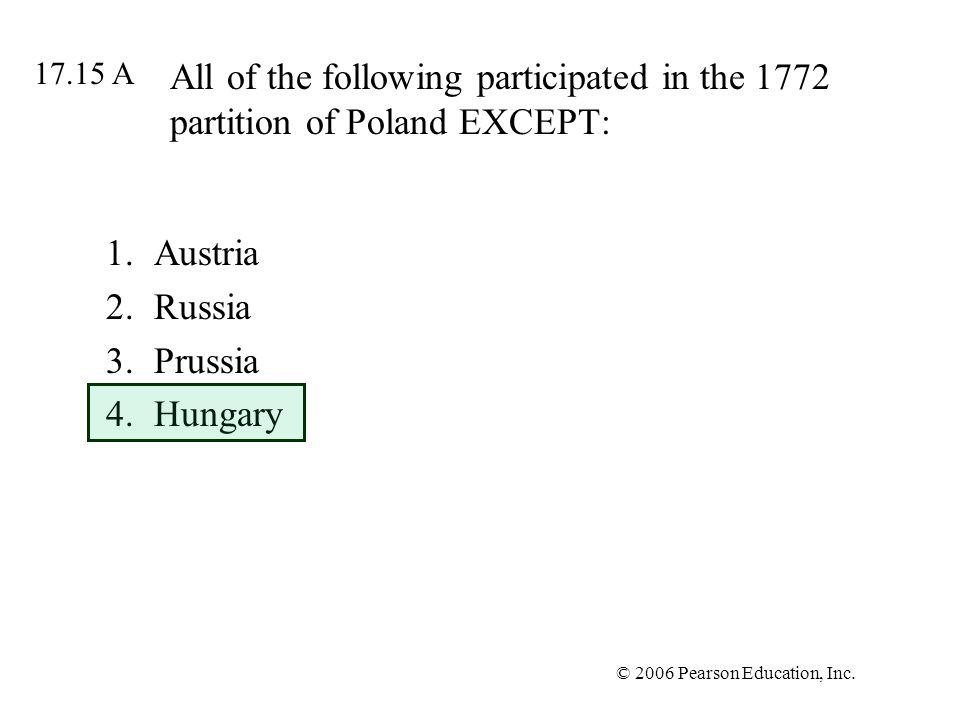 Austria Russia Prussia Hungary