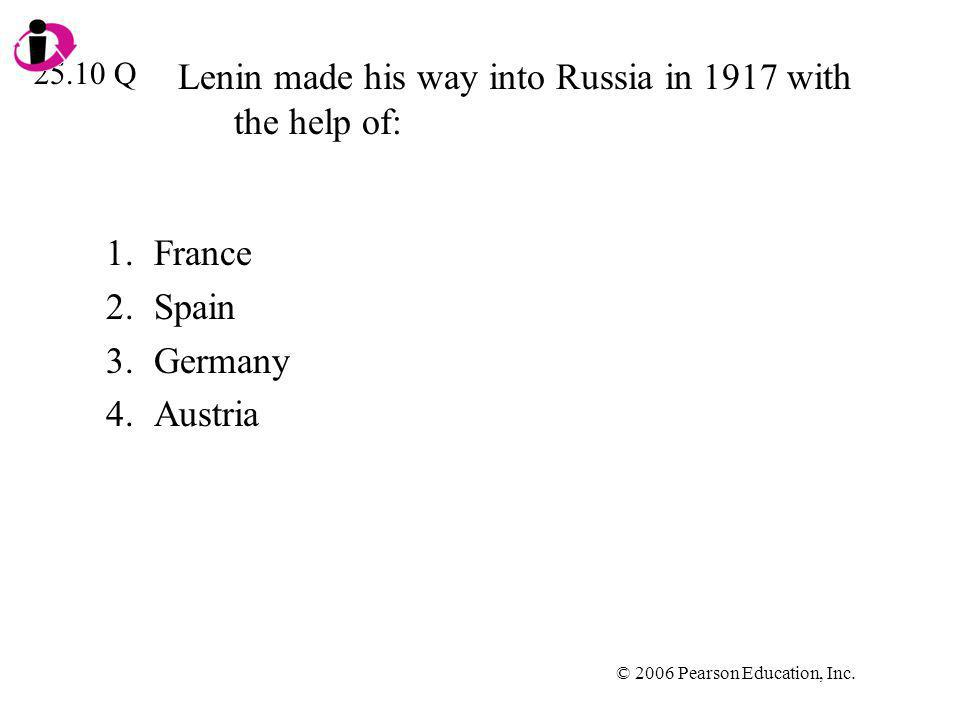 Lenin made his way into Russia in 1917 with the help of: