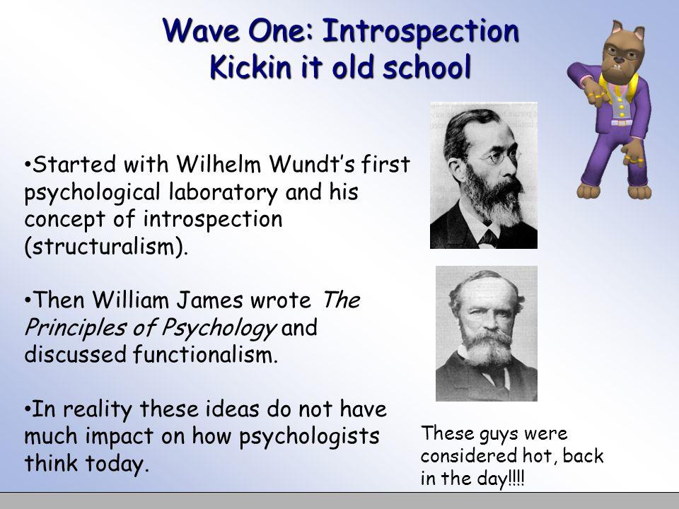 Wave One: Introspection Kickin it old school