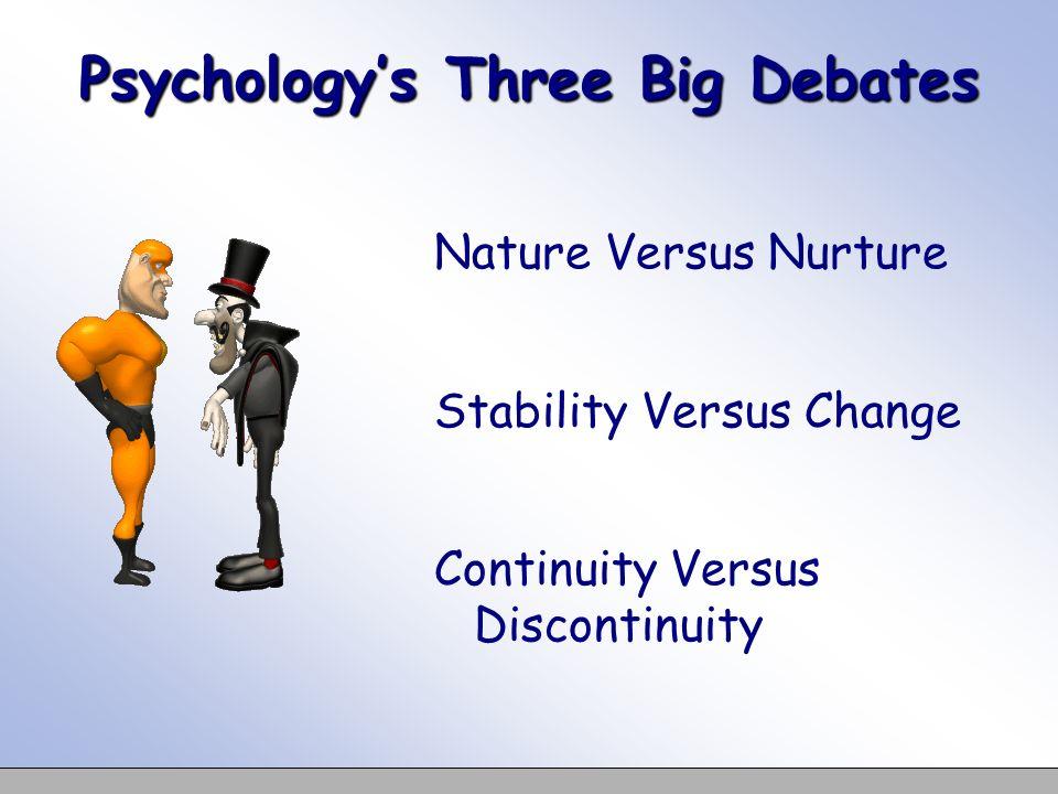 Psychology's Three Big Debates