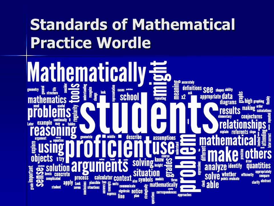 Standards of Mathematical Practice Wordle