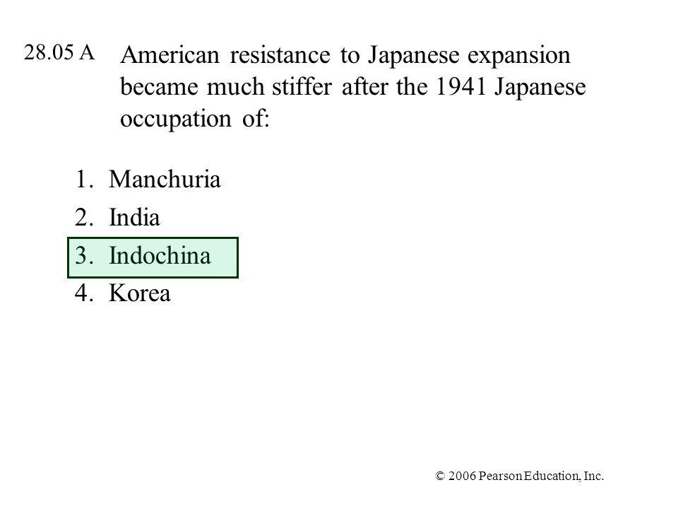 Manchuria India Indochina Korea