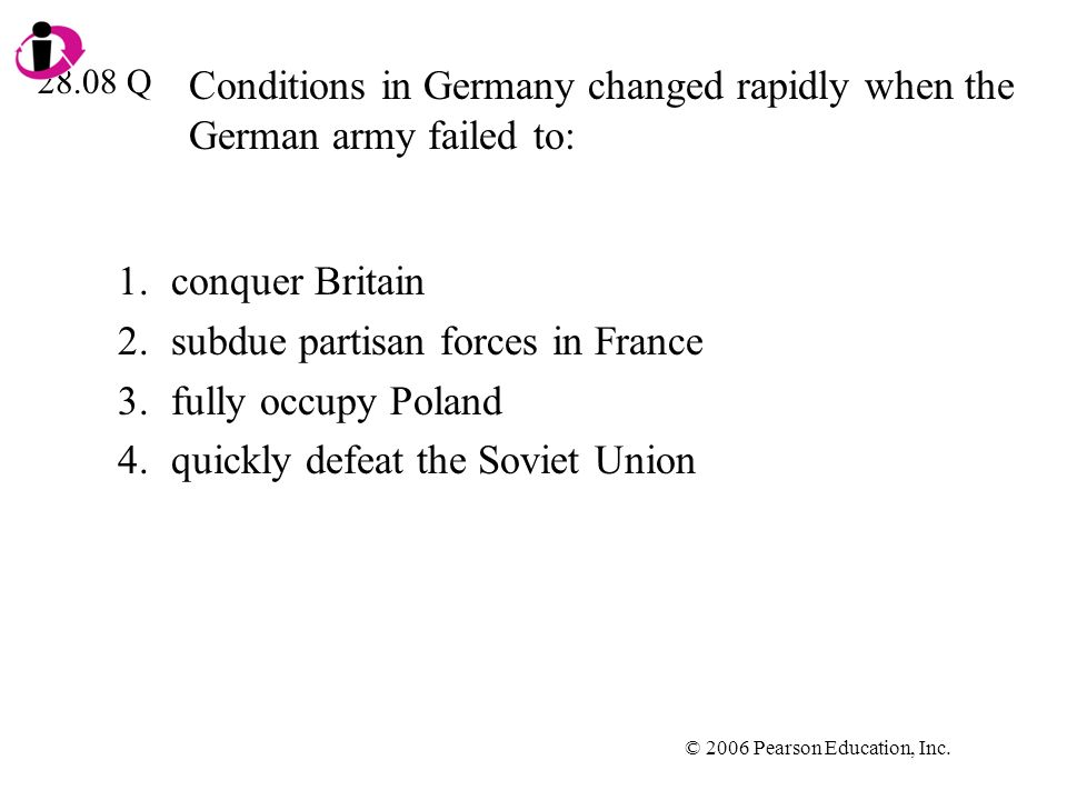 Conditions in Germany changed rapidly when the German army failed to: