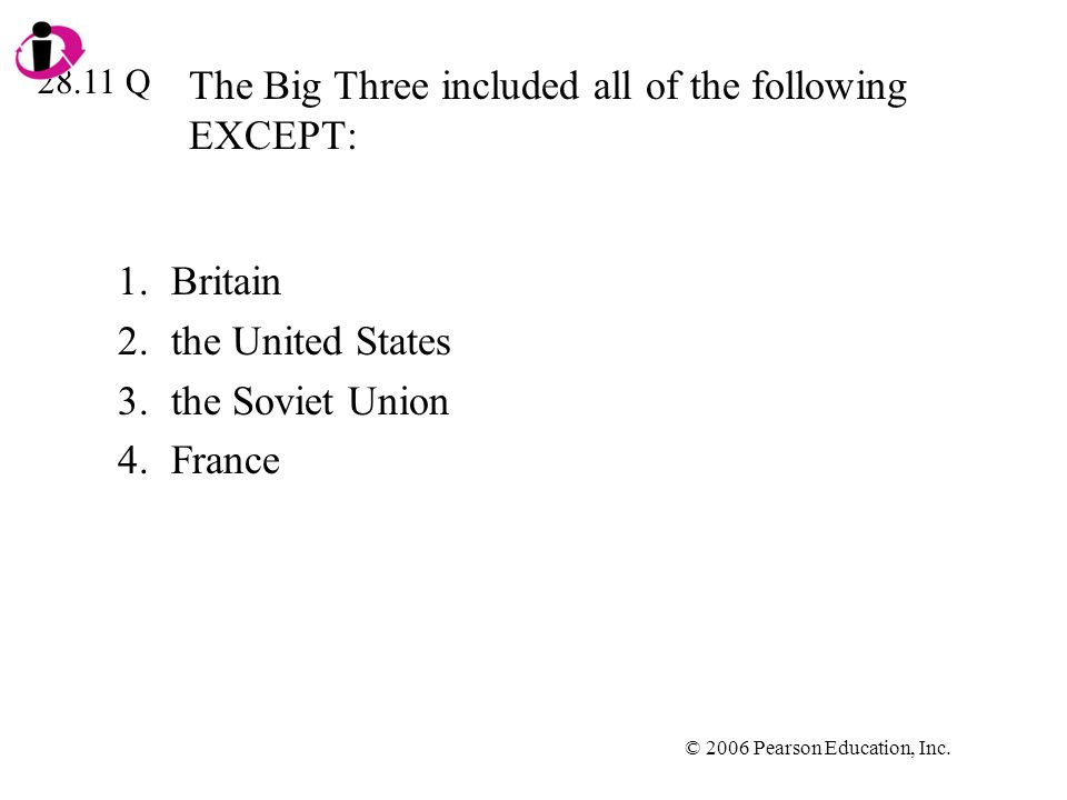 The Big Three included all of the following EXCEPT: