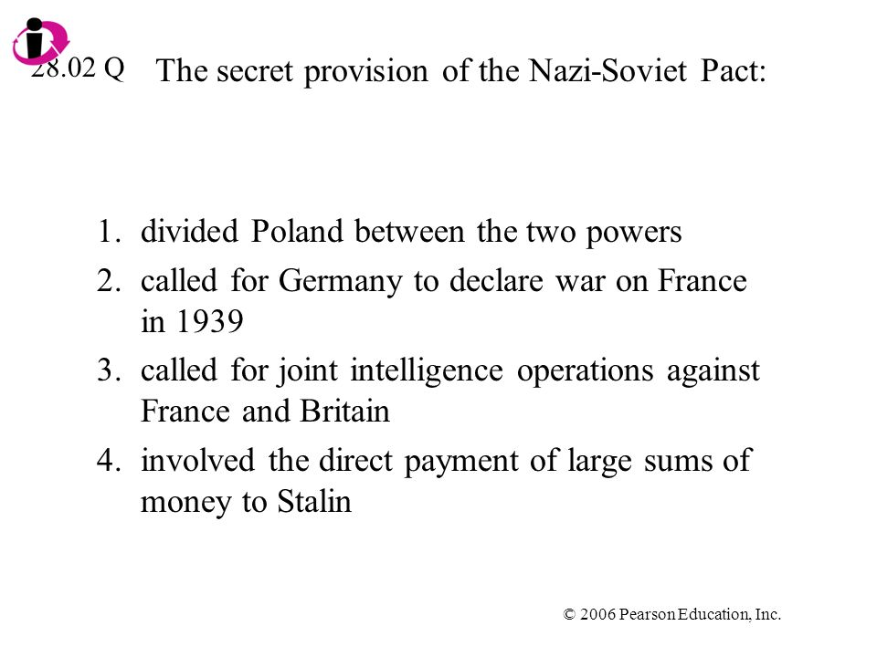 The secret provision of the Nazi-Soviet Pact: