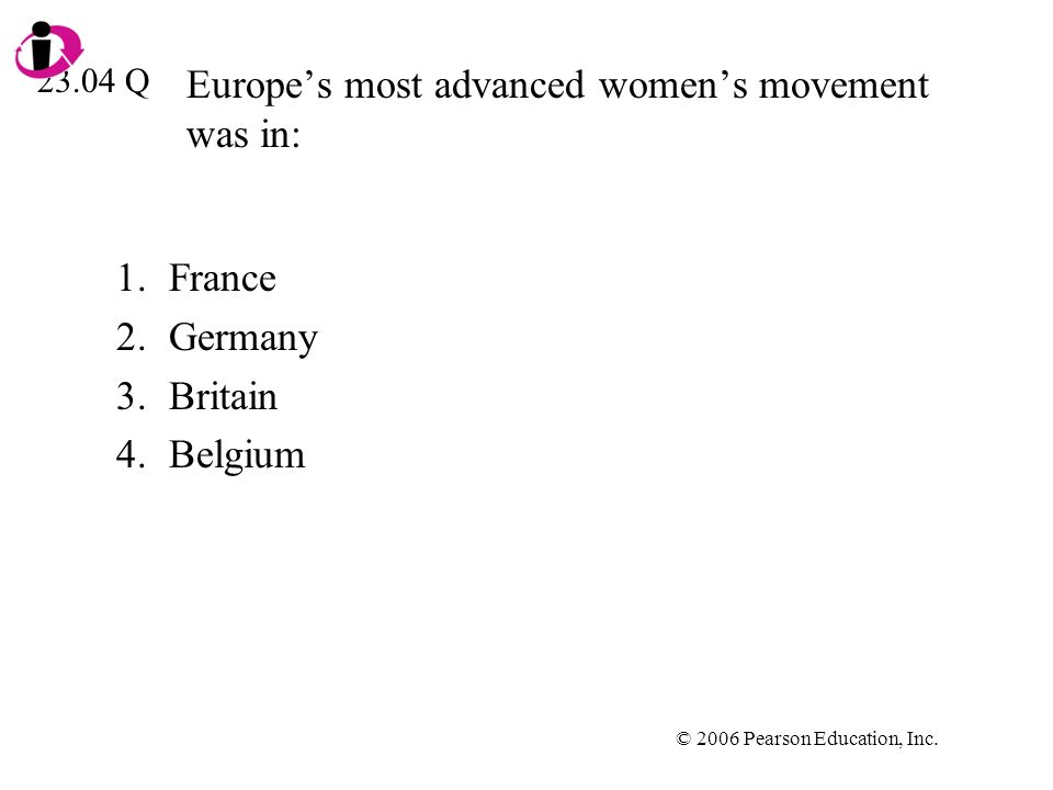 Europe's most advanced women's movement was in: