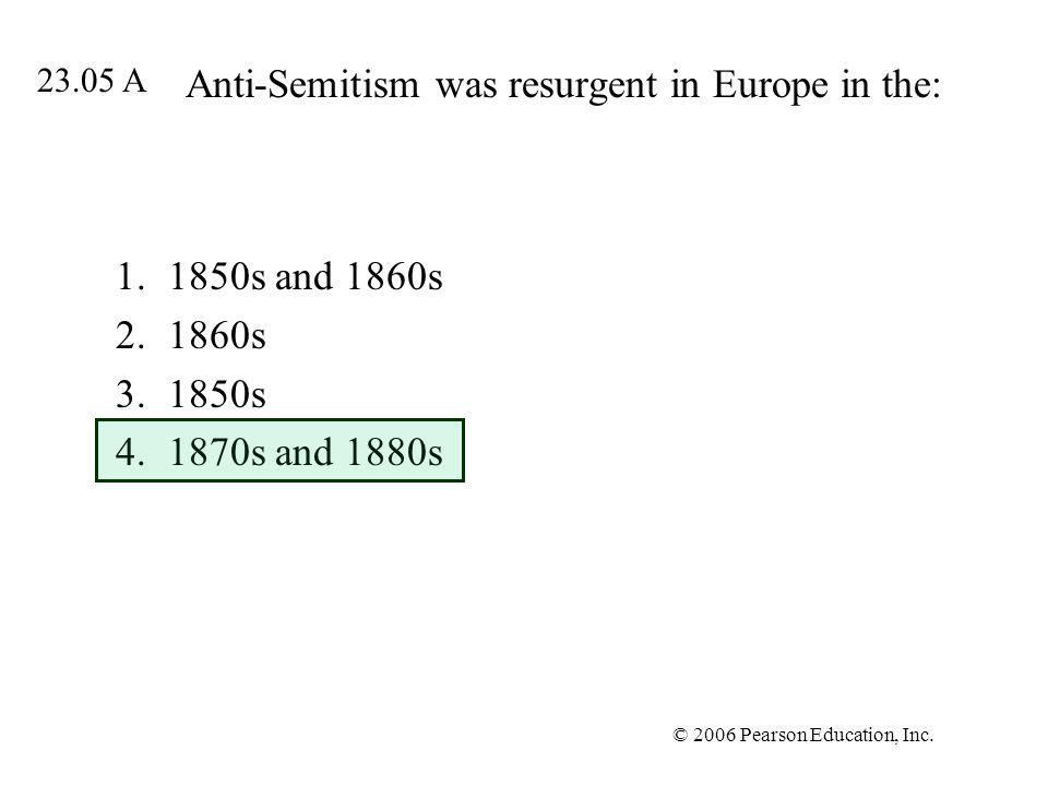 Anti-Semitism was resurgent in Europe in the: