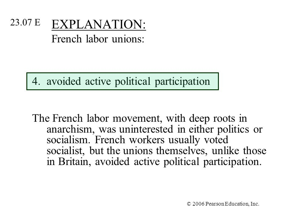 EXPLANATION: French labor unions: