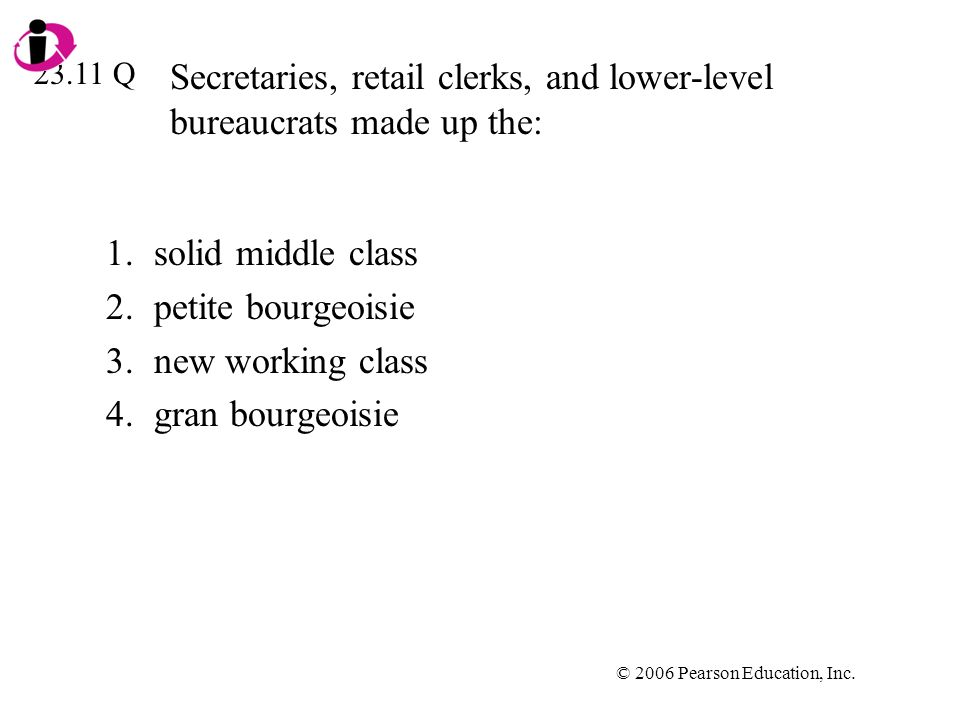 Secretaries, retail clerks, and lower-level bureaucrats made up the: