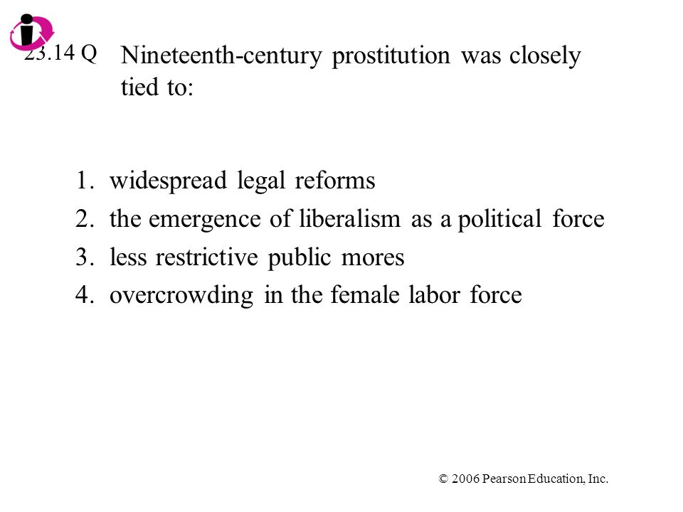 Nineteenth-century prostitution was closely tied to:
