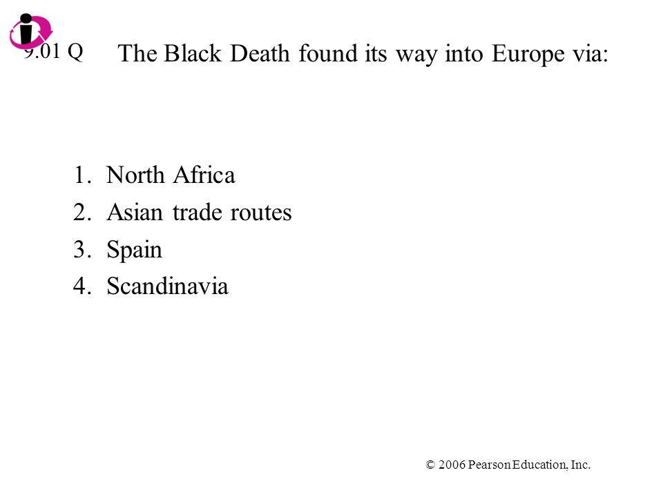 The Black Death found its way into Europe via: