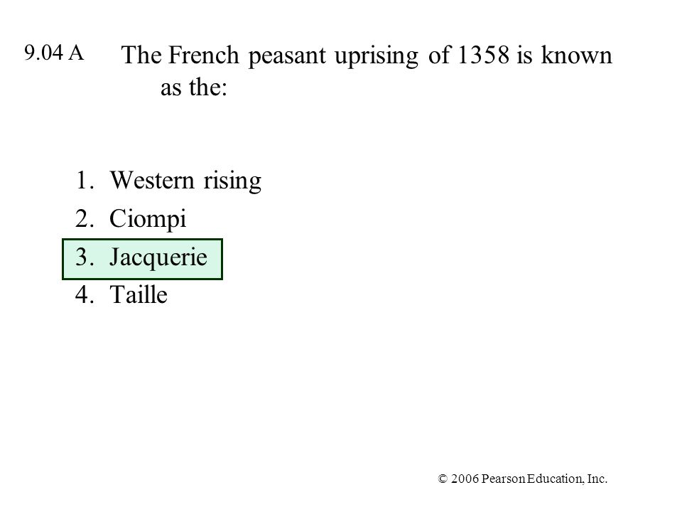 The French peasant uprising of 1358 is known as the: