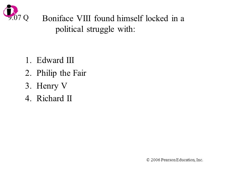 Boniface VIII found himself locked in a political struggle with: