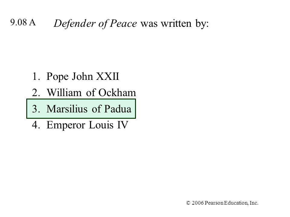 Defender of Peace was written by: