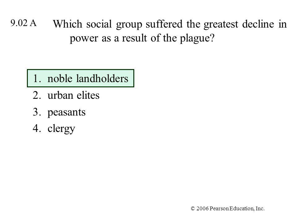 noble landholders urban elites peasants clergy