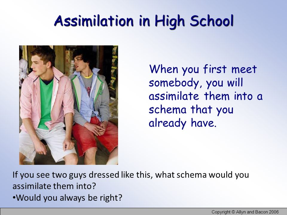 Assimilation in High School