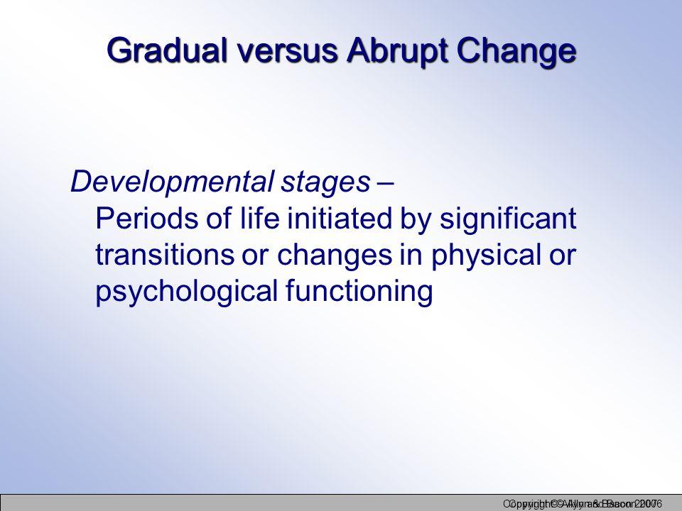 Gradual versus Abrupt Change