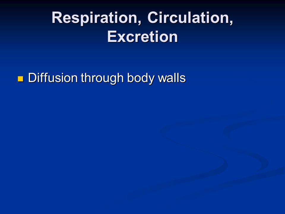 Respiration, Circulation, Excretion