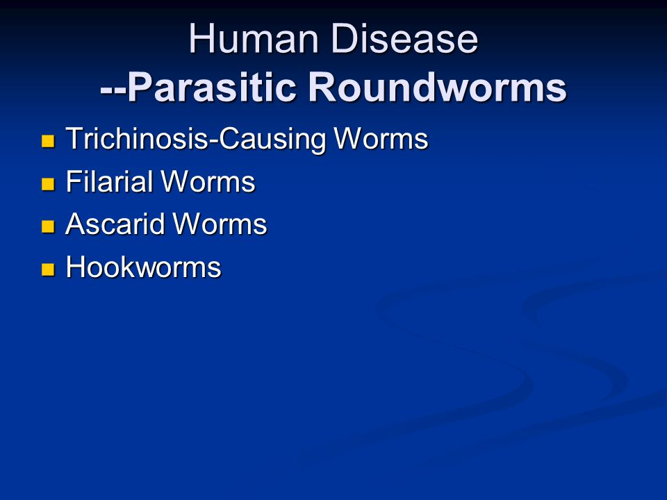 Human Disease --Parasitic Roundworms