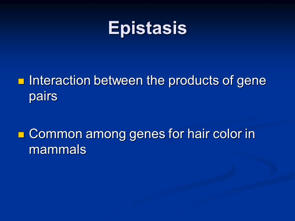 Epistasis Interaction between the products of gene pairs
