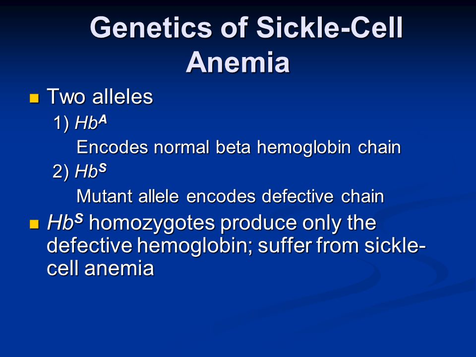 Genetics of Sickle-Cell Anemia