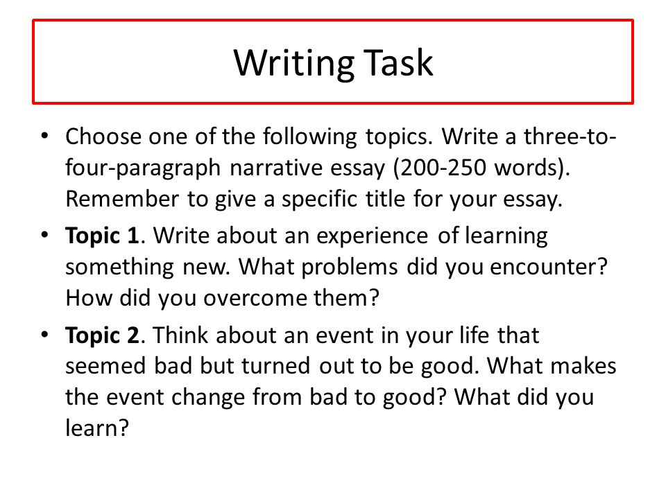 unit narrative essay ppt video online  writing task