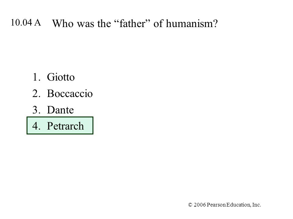 Who was the father of humanism