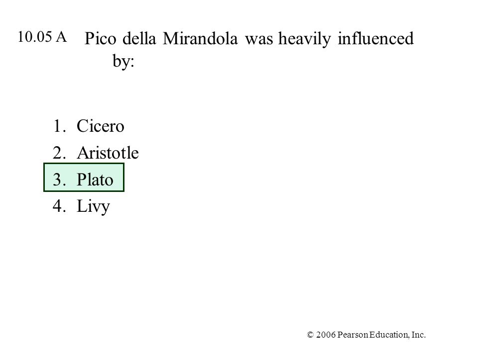 Pico della Mirandola was heavily influenced by: