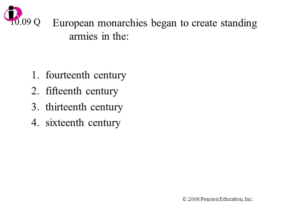 European monarchies began to create standing armies in the: