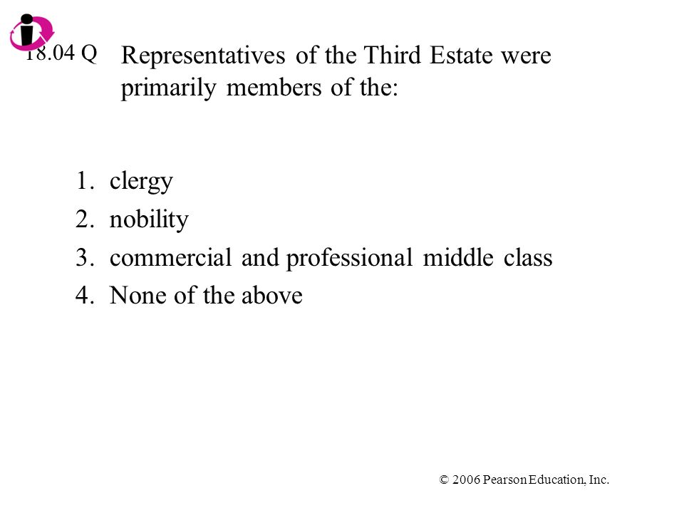Representatives of the Third Estate were primarily members of the: