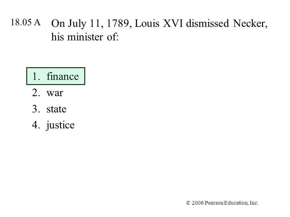 On July 11, 1789, Louis XVI dismissed Necker, his minister of: