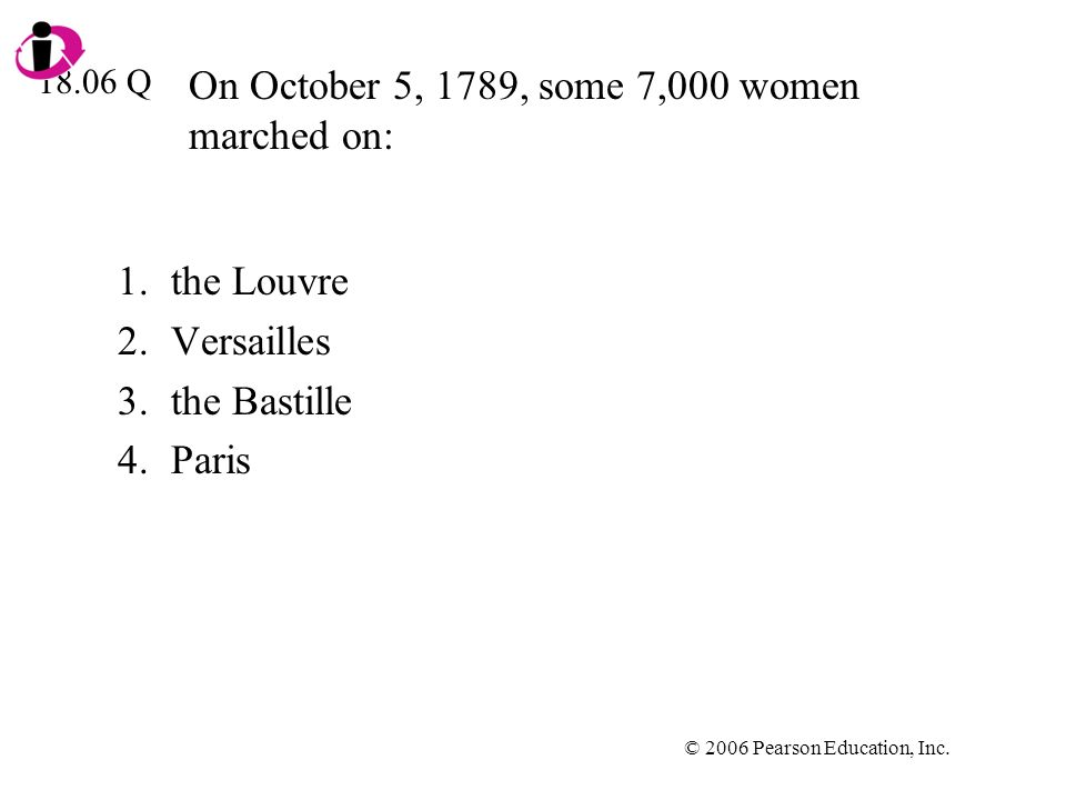On October 5, 1789, some 7,000 women marched on: