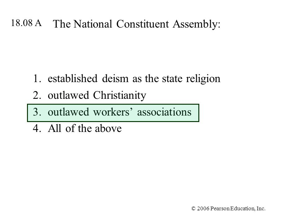 The National Constituent Assembly: