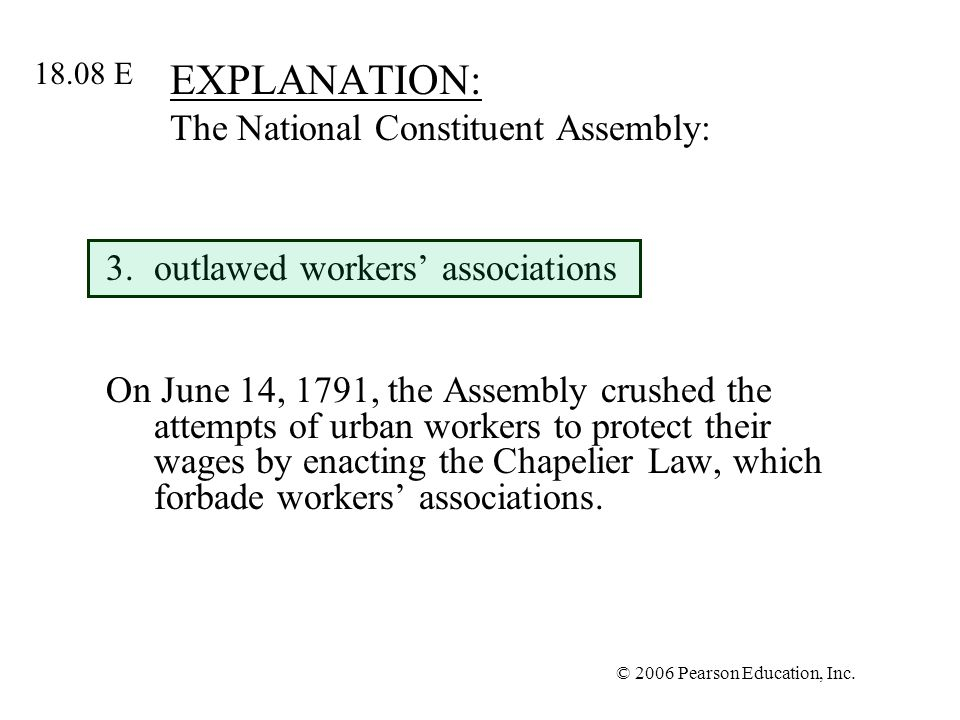 EXPLANATION: The National Constituent Assembly: