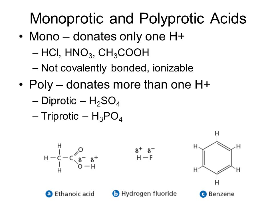 Monoprotic and Polyprotic Acids