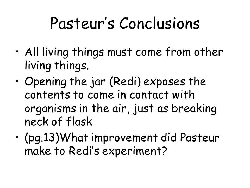 Pasteur's Conclusions