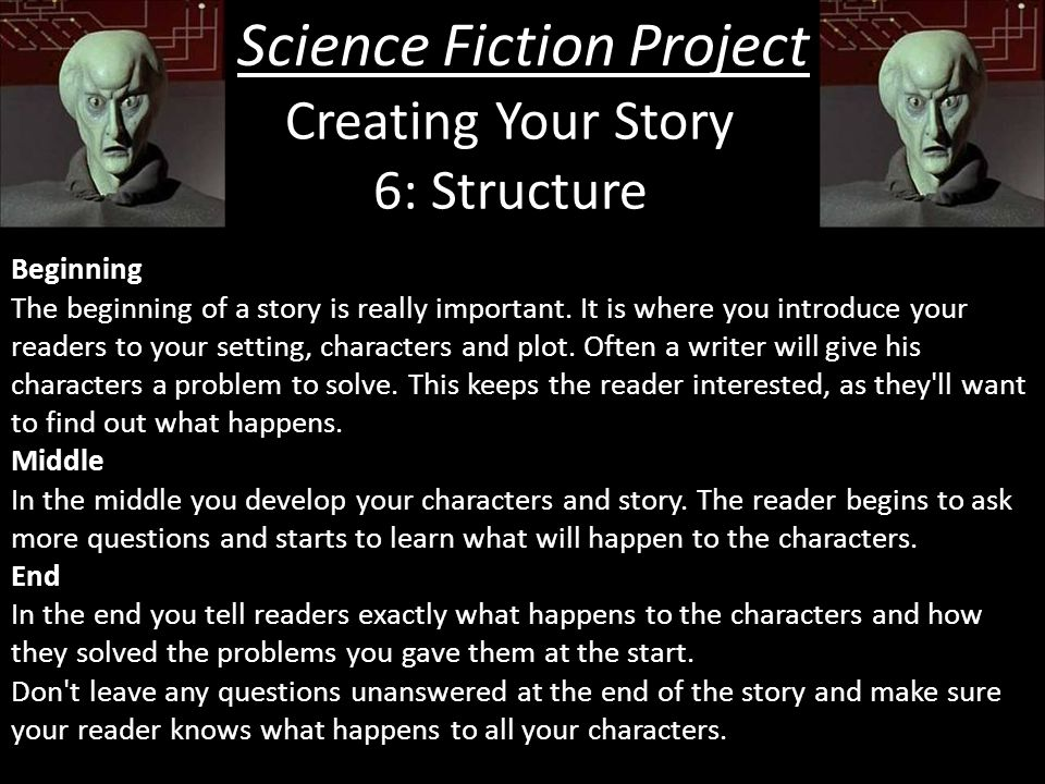 how to make a science fiction story