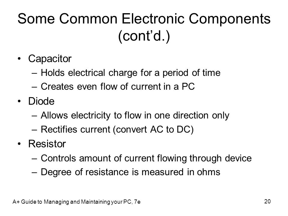 Some Common Electronic Components (cont'd.)