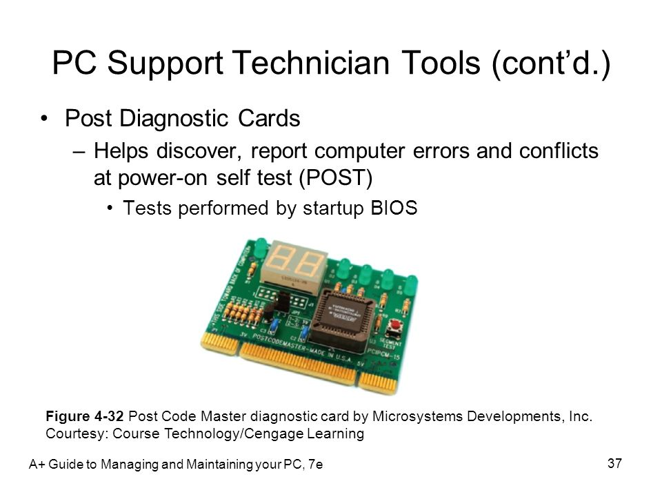PC Support Technician Tools (cont'd.)