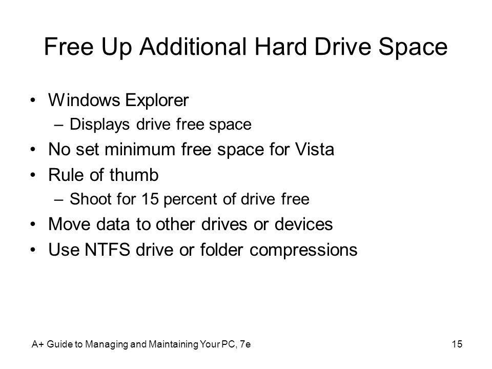 Free Up Additional Hard Drive Space